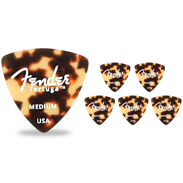 Fender346 Shape Tortuga Ultem Guitar Picks (6-Pack), Tortoise ShellMedium