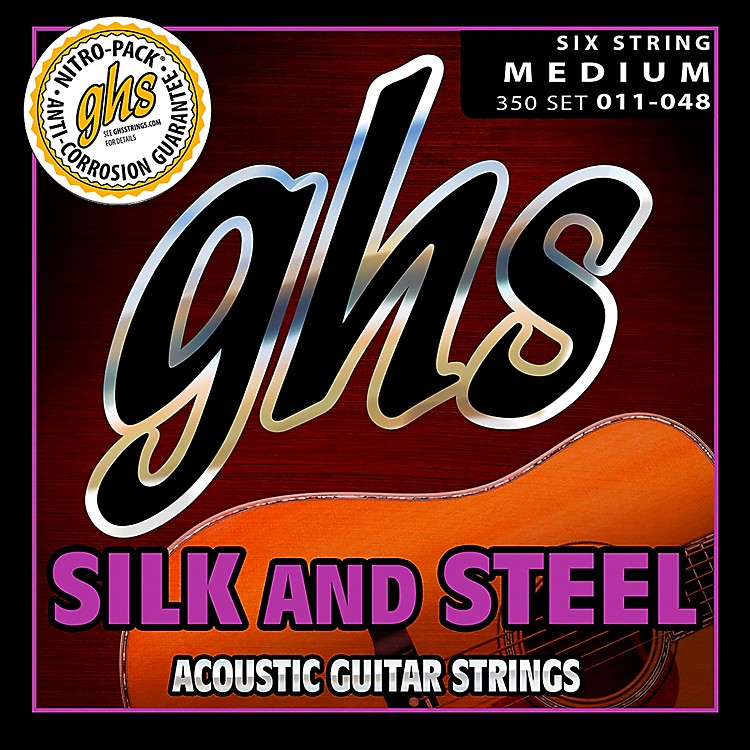 GHS 350 Silk and Steel Medium Acoustic Guitar Strings