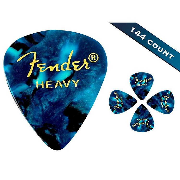 Fender351 Premium Heavy Guitar Picks - 144 CountOcean Turquoise Moto