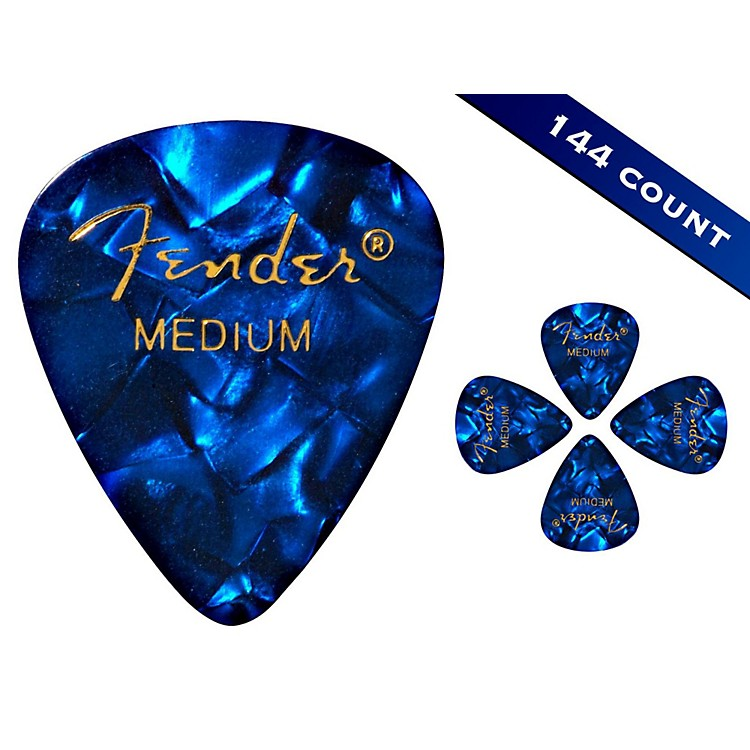 Fender 351 Premium Medium Guitar Picks - 144 Count Abalone Moto
