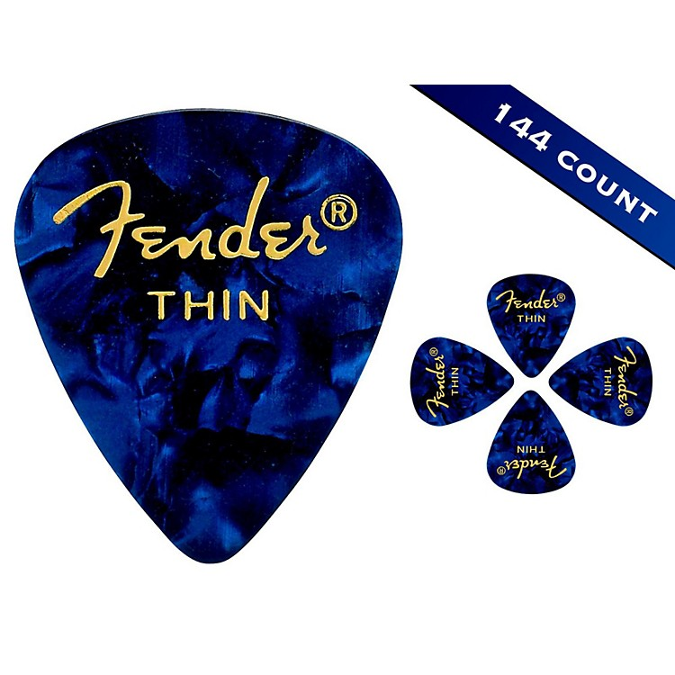 Fender351 Premium Thin Guitar Picks - 144 CountBlue Moto