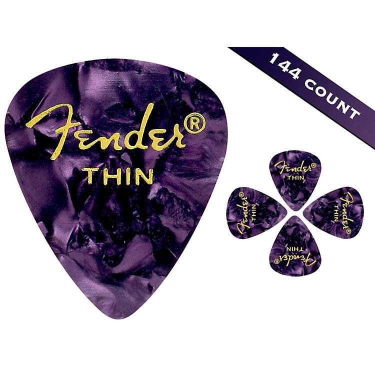 Fender351 Premium Thin Guitar Picks - 144 CountPurple Moto
