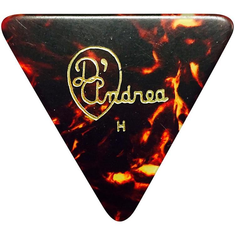 D'Andrea355 Triangle Celluloid Guitar Picks One DozenShellHeavy