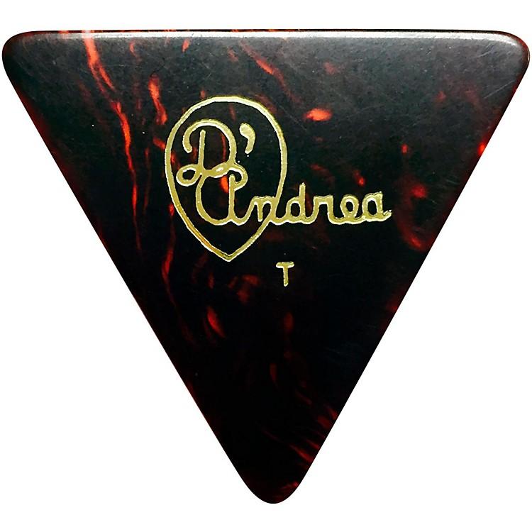 D'Andrea355 Triangle Celluloid Guitar Picks One DozenShellThin
