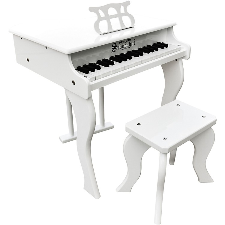 Schoenhut37-Key Elite Baby Grand Toy PianoWhite