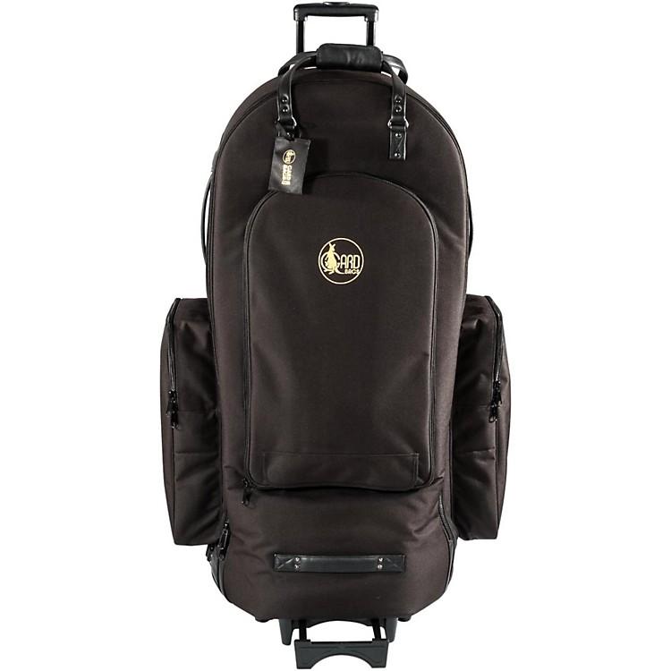 Gard4/4 Medium Frame Tuba Wheelie Bag63-WBFSK BlackSynthetic w/ Leather Trim