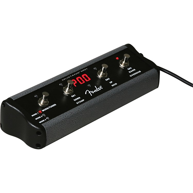 Fender 4-Button Footswitch for Mustang Amps Black
