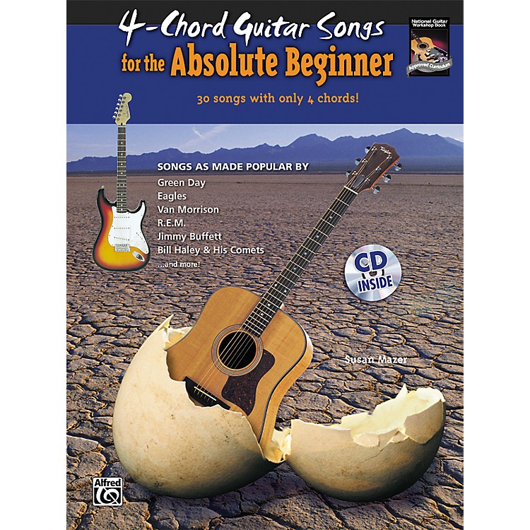 Alfred4-Chord Guitar Songs for the Absolute Beginner Book & CD