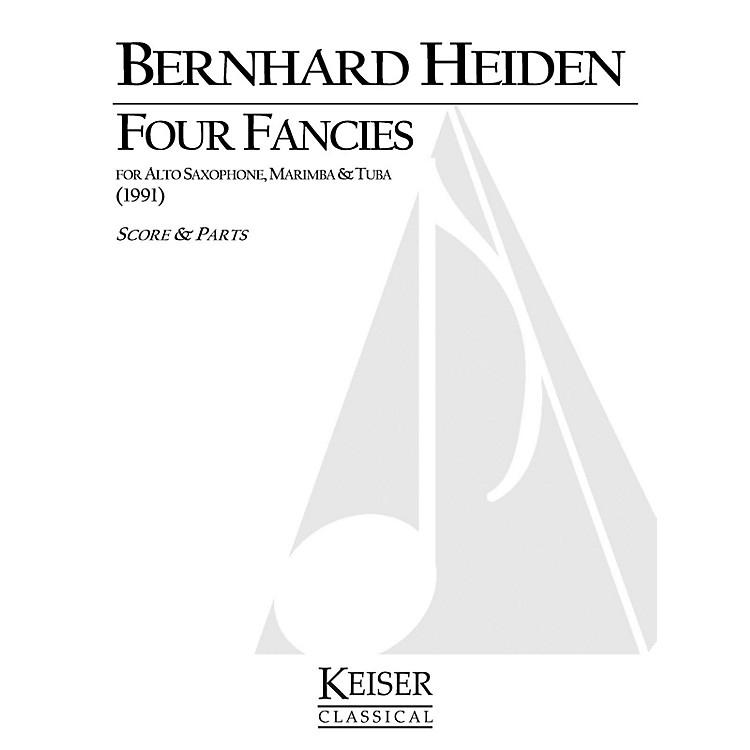 Lauren Keiser Music Publishing4 Fancies for Alto Sax, Marimba and Tuba LKM Music Series Composed by Bernhard Heiden