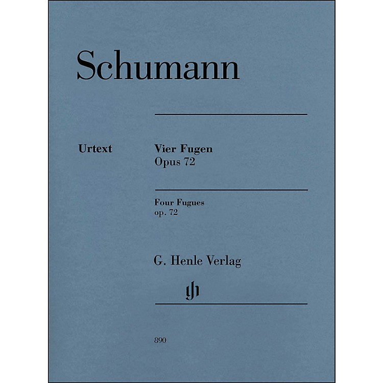G. Henle Verlag4 Fugues Op. 72 Piano Solo By Schumann