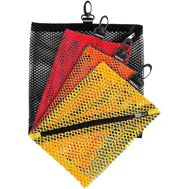 Vaultz4 Pack Mesh Bags Assorted ColorsBlack