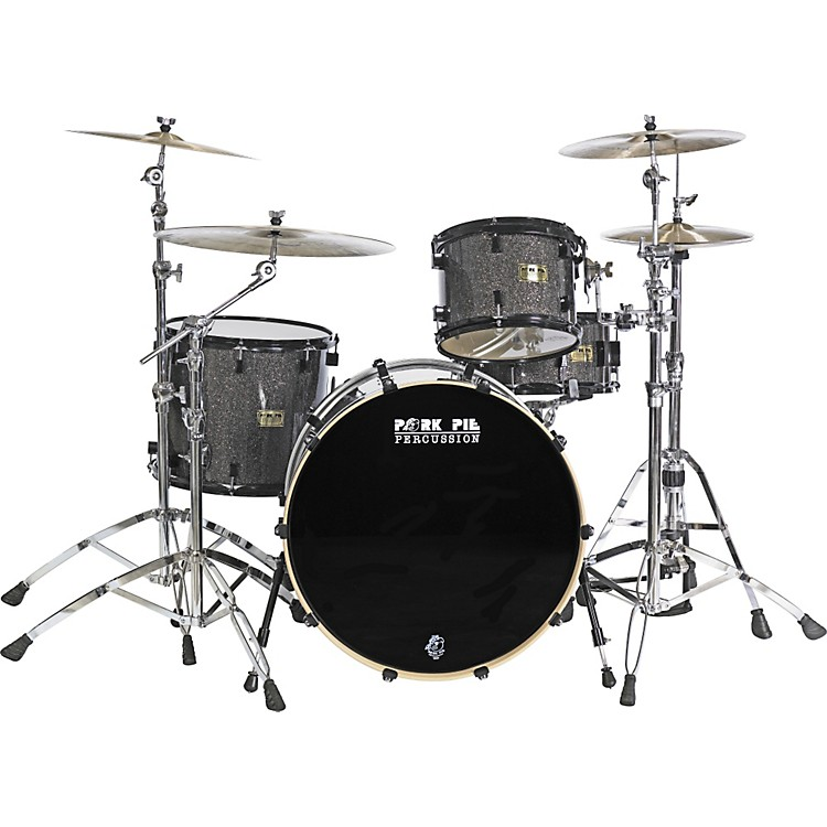 Pork Pie 4-Piece Black Glass Maple Rock Shell Pack