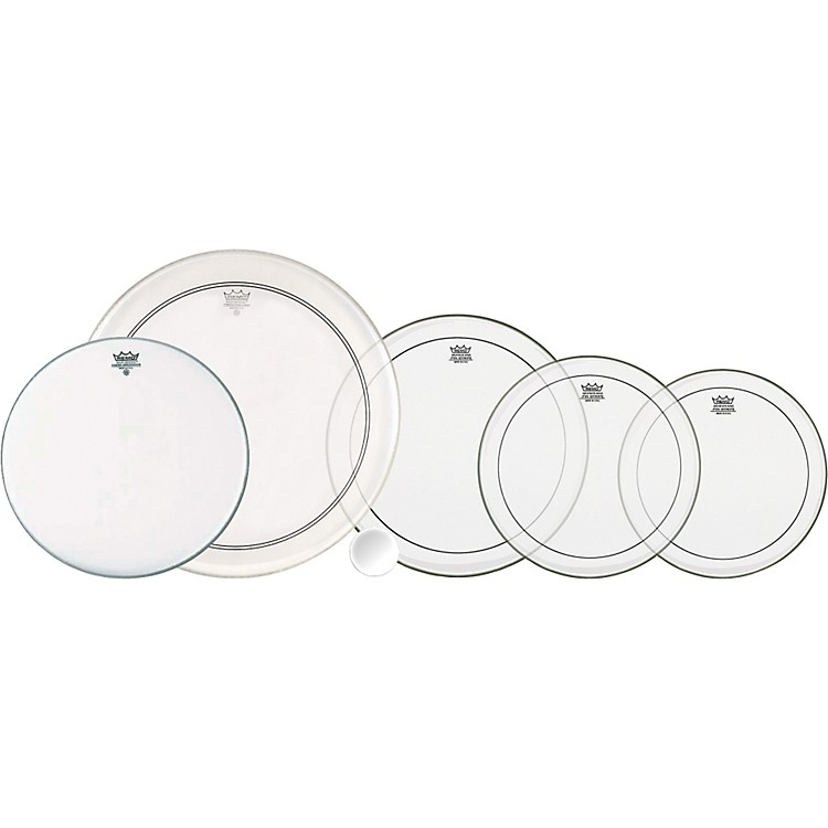 Remo4-Piece Clear Pinstripe Pro Pack with Free 14 in. Coated Ambassador Snare Drum HeadFusion