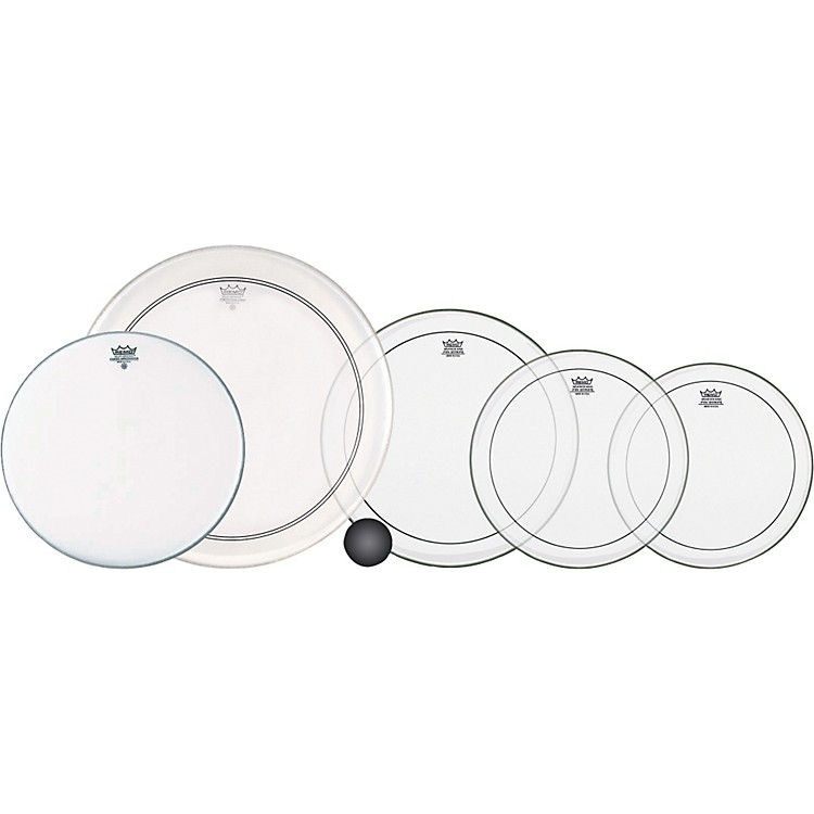 Remo4-Piece Clear Pinstripe Standard Pro Pack with Free 14 in. Coated Ambassador Snare Drum Head