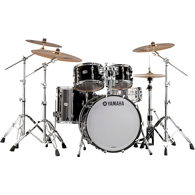 Yamaha 4-Piece Recording Custom Shell Pack Solid Black