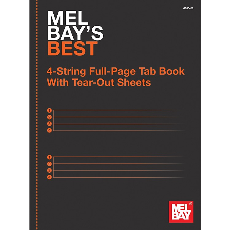 Mel Bay 4-String Full-Page Tab Book