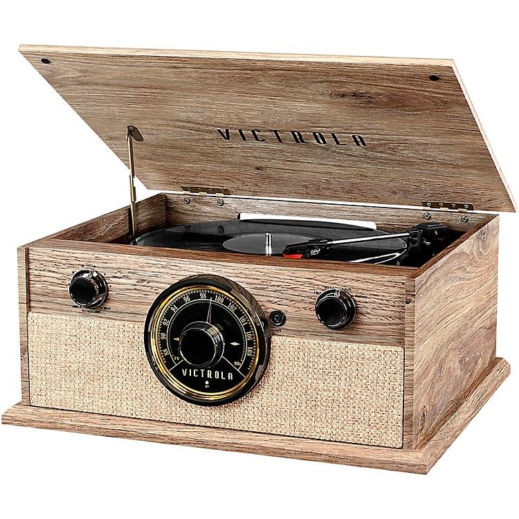 Victrola4-in-1 Cambridge Farmhouse Modern Bluetooth Turntable with RadioFarmhouse Oatmeal