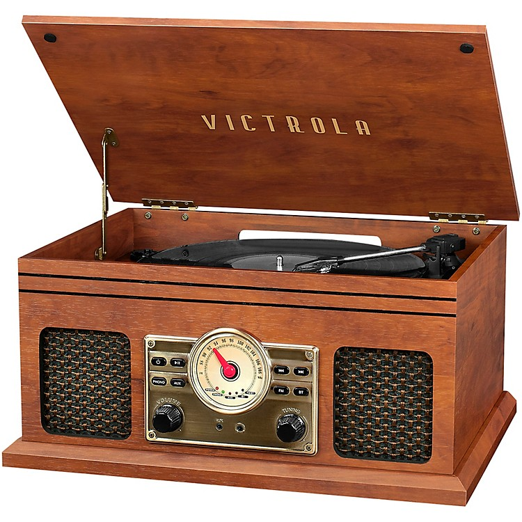 Victrola 4-in-1 Nostalgic Bluetooth Record Player with Radio Mahogany