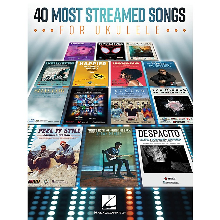 Hal Leonard 40 Most Streamed Songs for Ukulele