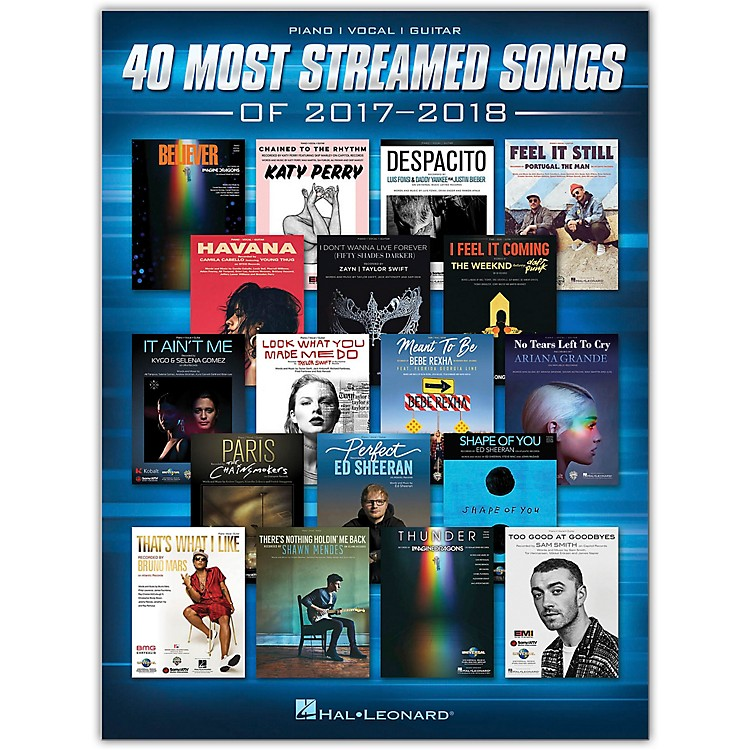 Hal Leonard40 Most Streamed Songs of 2017-2018 Piano/Vocal/Guitar Songbook
