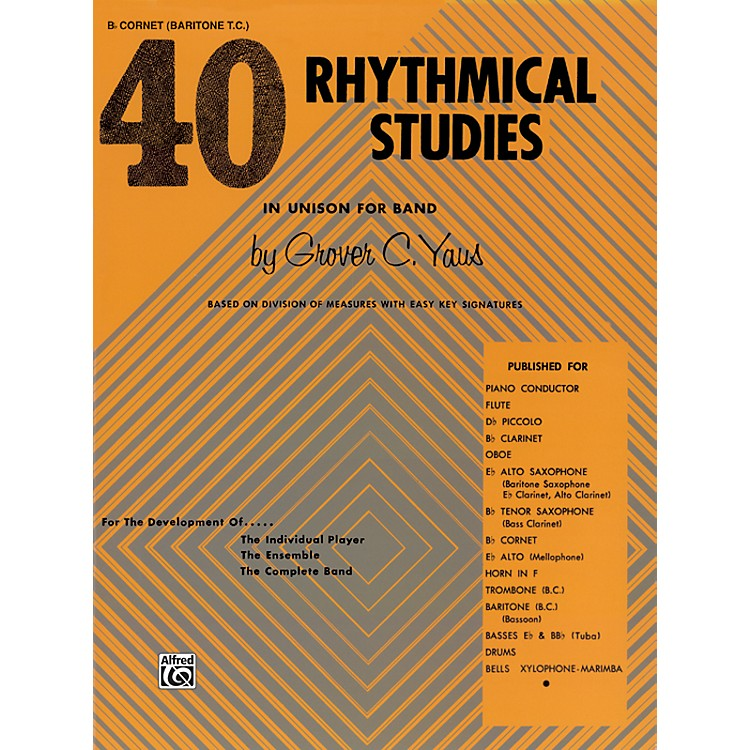 Alfred40 Rhythmical Studies B-Flat Cornet (Trumpet)