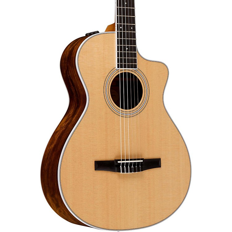 Taylor 400 Series 412ce-N  Grand Concert Nylon String Acoustic-Electric Guitar Natural