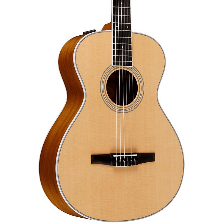 Taylor 400 Series 412e-N Grand Concert Nylon String Acoustic-Electric Guitar Natural