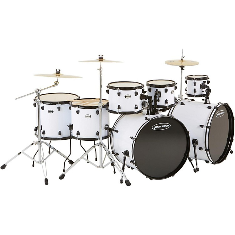 Pulse 4000 Series 8-Piece Double Bass Drum Shell Pack Silver Sparkle