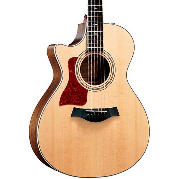 Taylor412ce-L Ovangkol/Spruce Grand Concert Left-Handed Acoustic-Electric Guitar