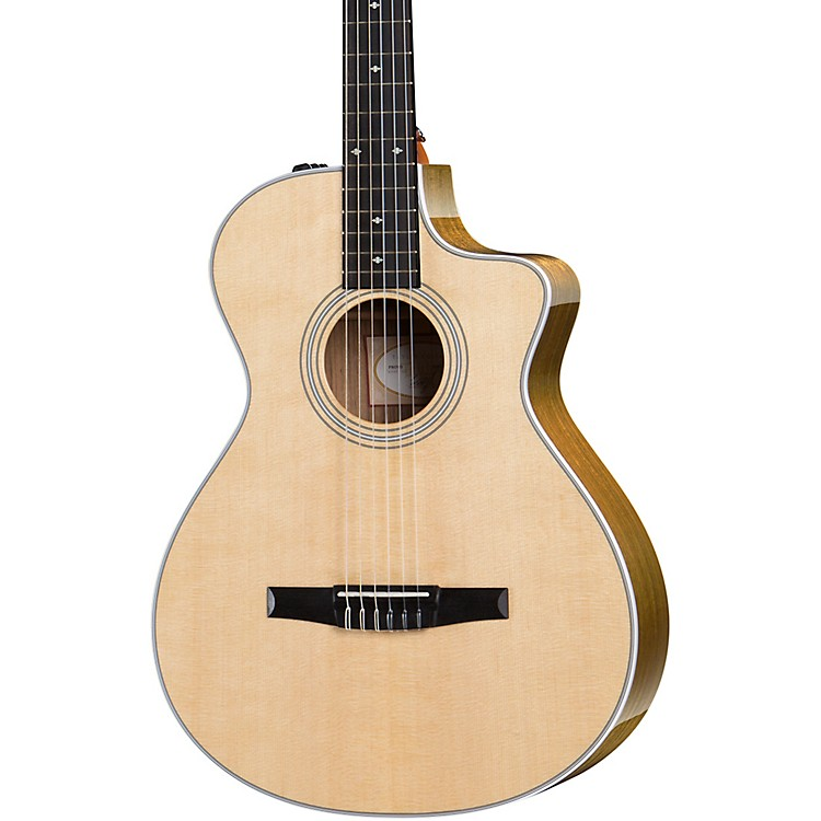 Taylor412ce-N Grand Concert Nylon String Acoustic-Electric GuitarNatural