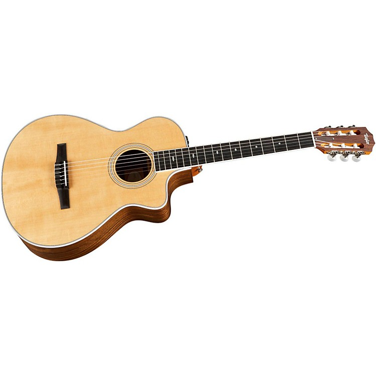 Taylor 412ce-N Ovangkol/Spruce Nylon String Grand Concert Acoustic-Electric Guitar