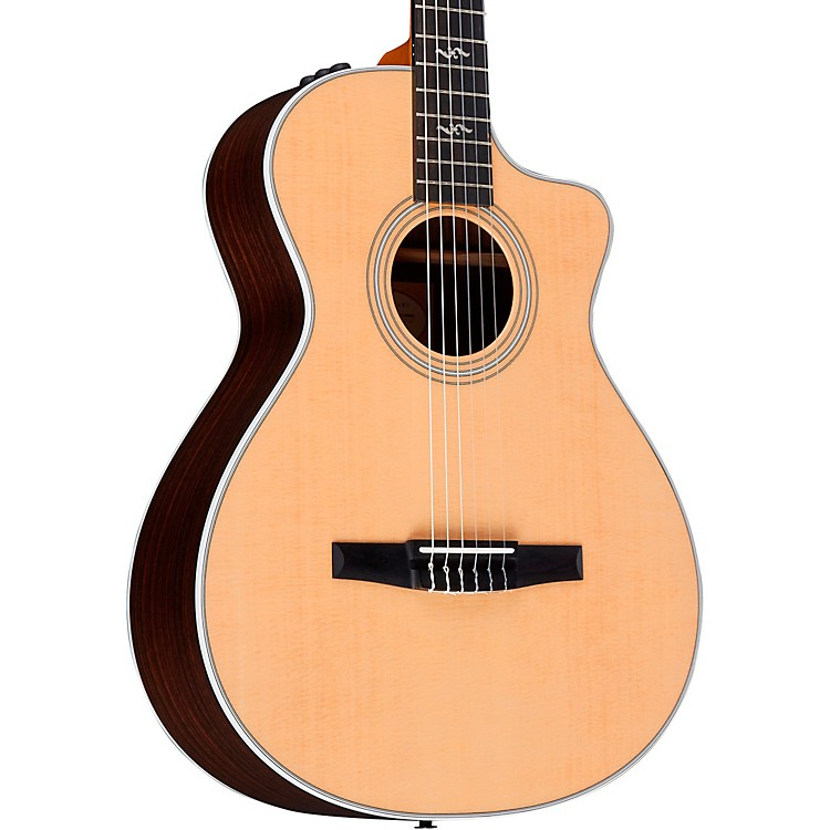 Taylor 412ce-N Rosewood Grand Concert Nylon String Acoustic-Electric Guitar Regular Natural