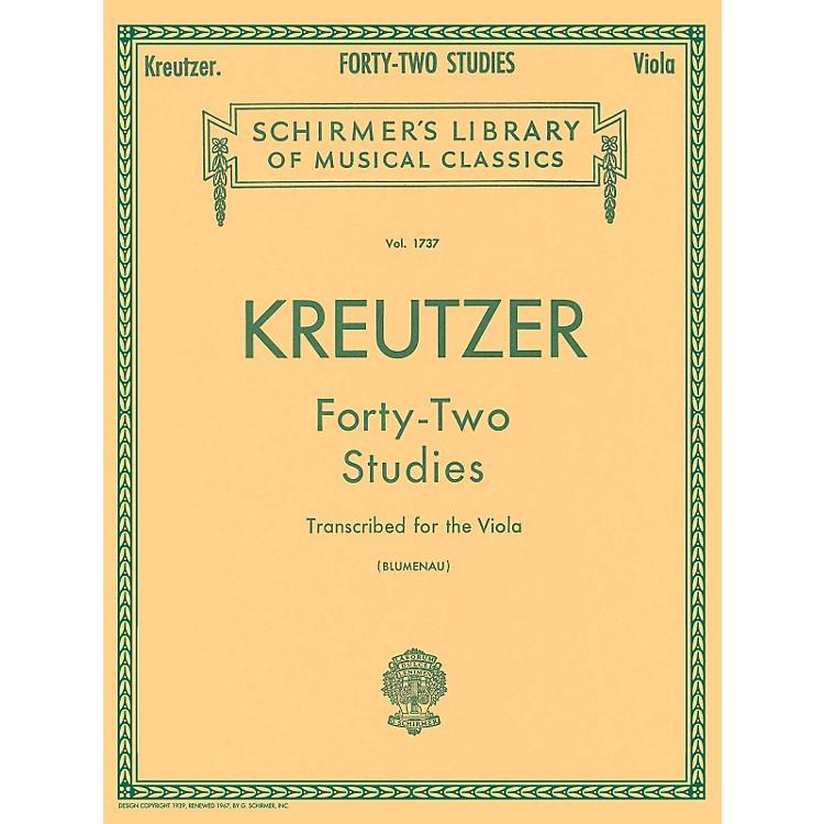 G. Schirmer42 Studies Transcribed for The Viola By Kreutzer