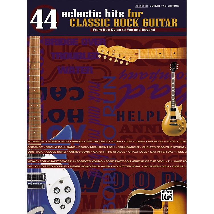 Alfred 44 Eclectic Hits for Classic Rock Guitar Tab Songbook