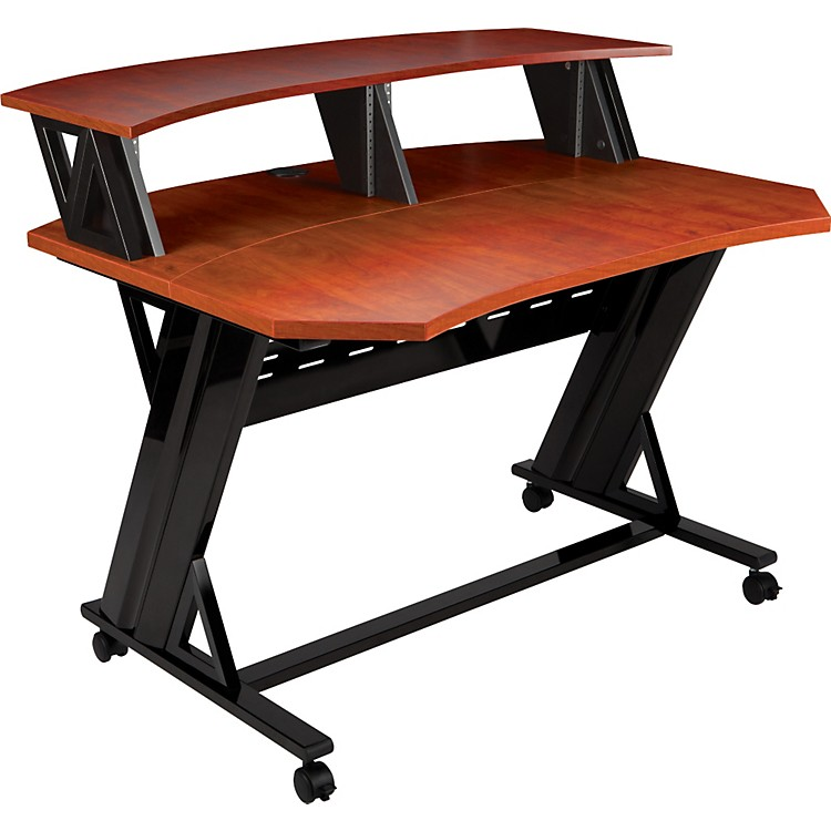 Studio Trends46 in. Studio Desk with Dual 4U RacksCherry