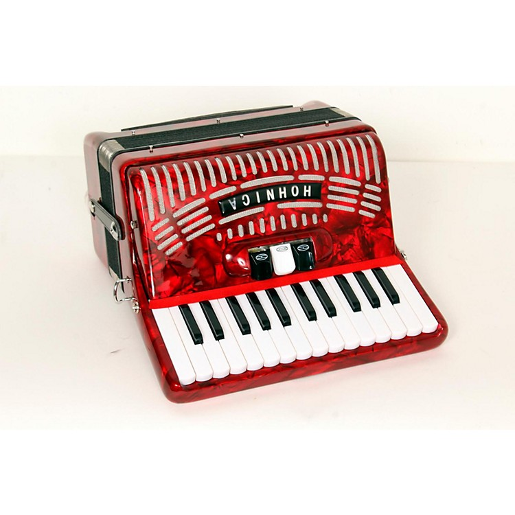 Hohner 48 Bass Entry Level Piano Accordion Red 888365664347