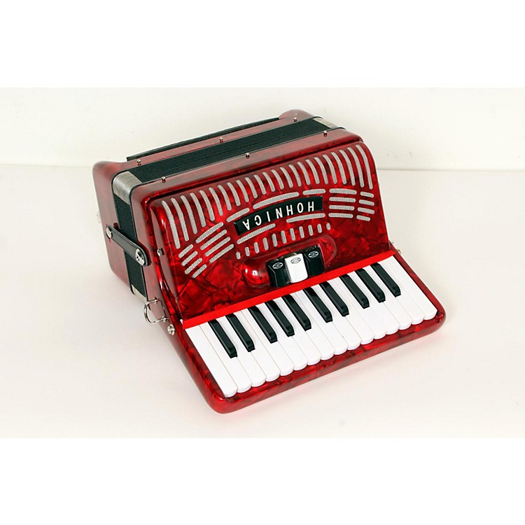 Hohner 48 Bass Entry Level Piano Accordion Red 888365674827