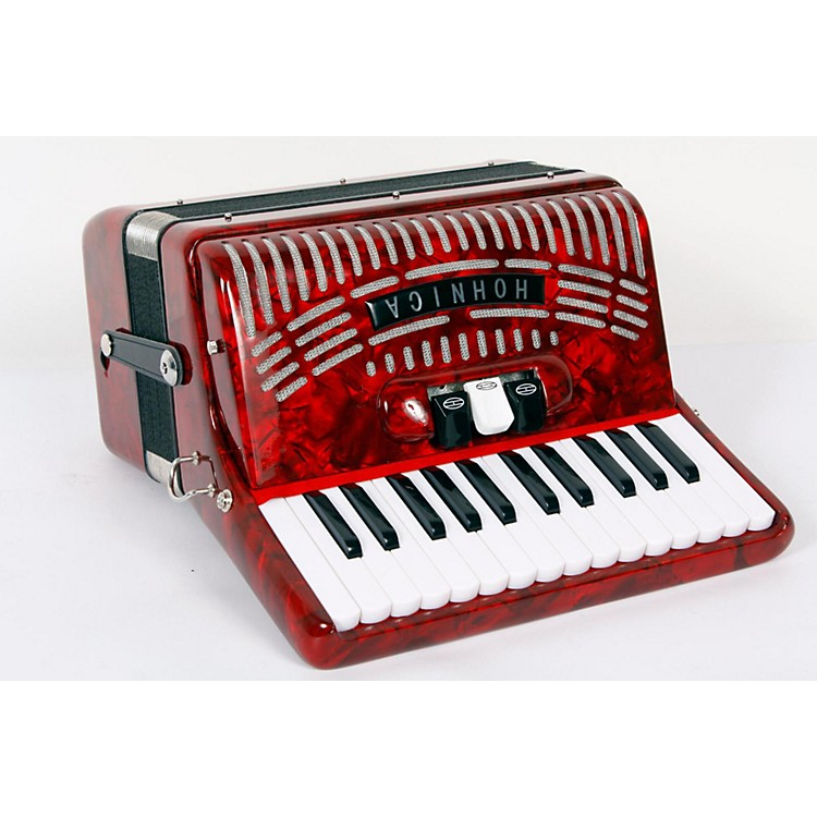 Hohner 48 Bass Entry Level Piano Accordion Red 888365722528