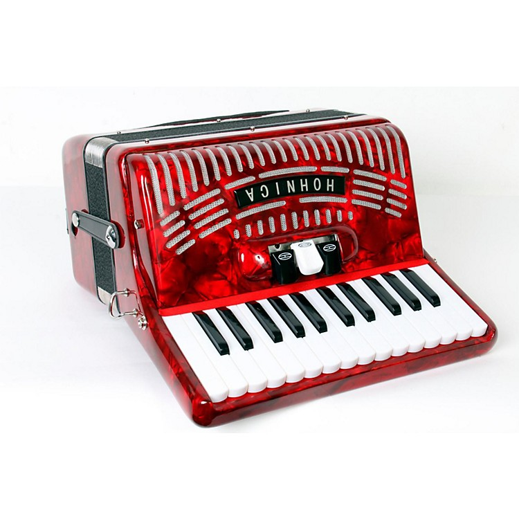 Hohner 48 Bass Entry Level Piano Accordion Red 888365775272