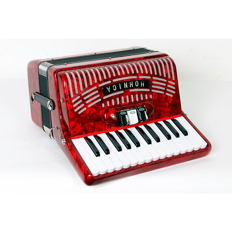 Hohner 48 Bass Entry Level Piano Accordion Red 888365775432