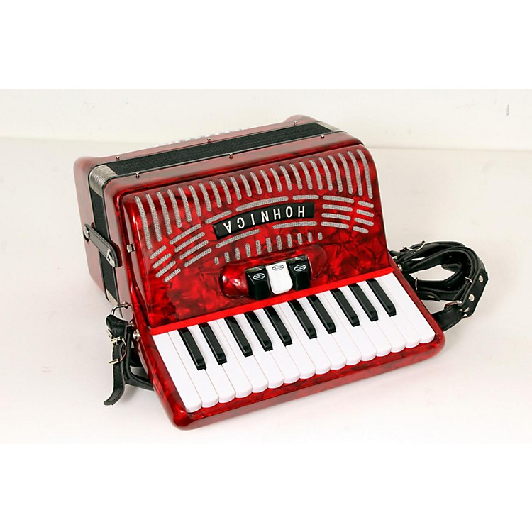 Hohner 48 Bass Entry Level Piano Accordion Red 888365778433