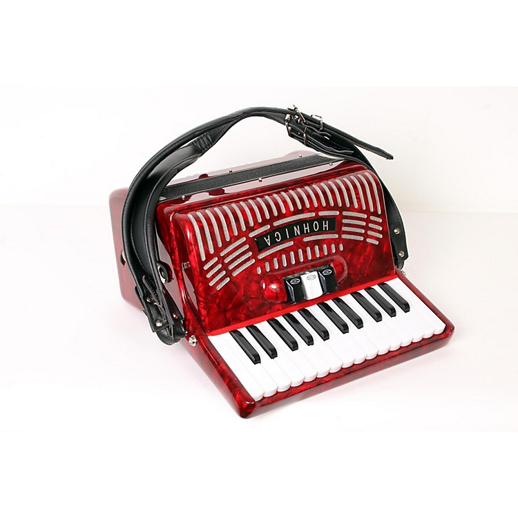 Hohner 48 Bass Entry Level Piano Accordion Red 888365902661