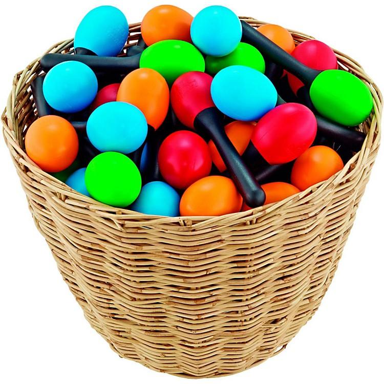 Nino48-Piece Plastic Egg Maraca Assortment Set with Basket
