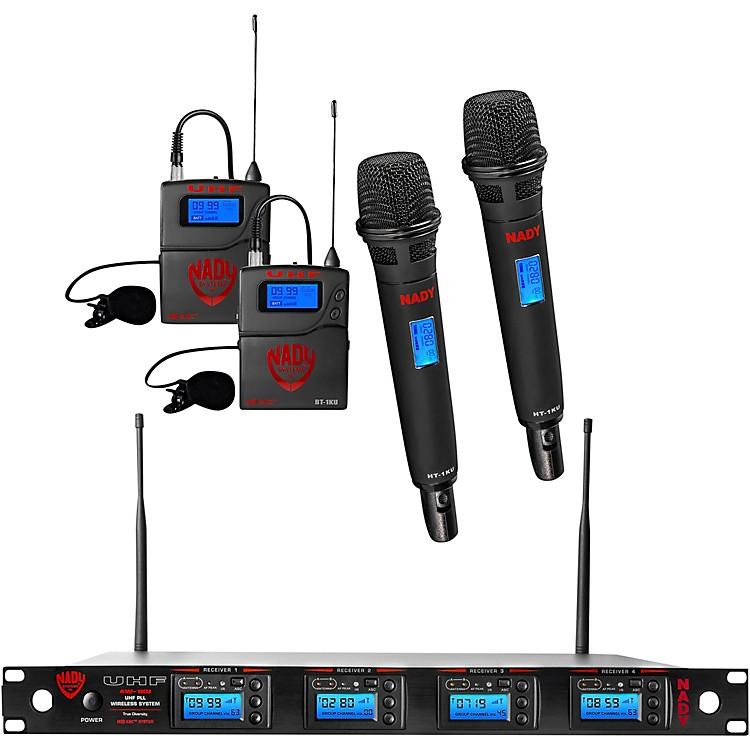 Nady4W-1KU - Quad 1000-Channel Combo Wireless System