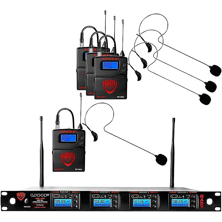 Nady4W-1KU - Quad 1000-Channel Headset Wireless System