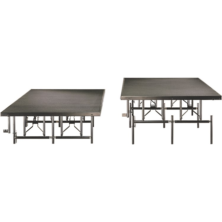 Midwest Folding Products4x8 Dual-Height Portable Stage & Seated Riser16 in.-24 in., Gray Polypropylene