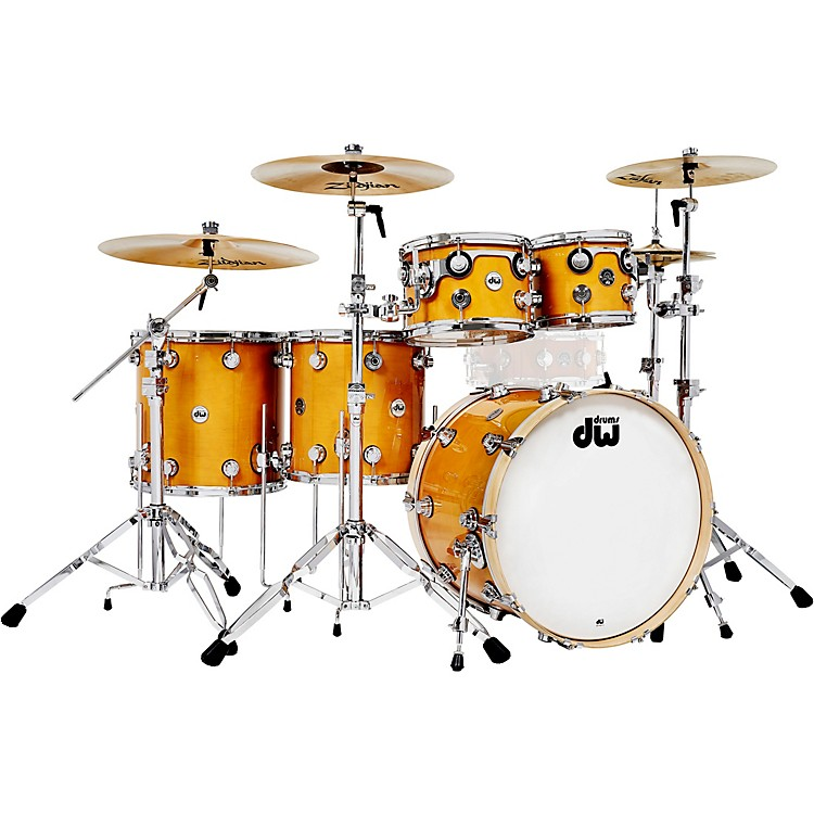 DW5-Piece Collector's Series Santa Monica Shell Pack with Chrome HardwareButterscotch