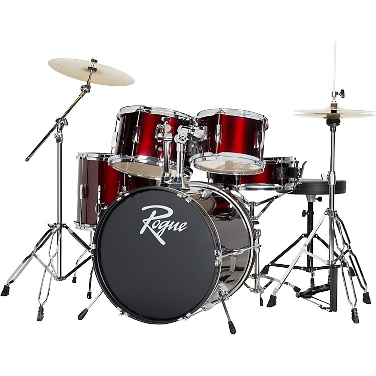 Rogue5-Piece Complete Drum SetWine Red