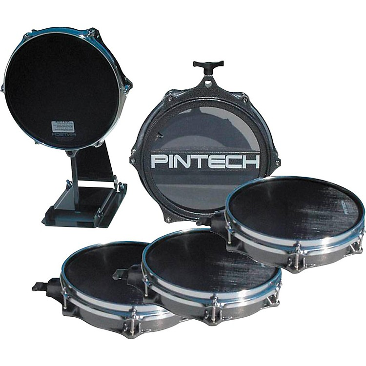 Pintech 5-Piece Drum Pad Bundle Silver Vein