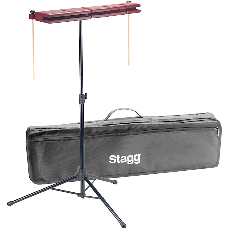 Stagg5-Piece Wooden Temple Block Set25 in.